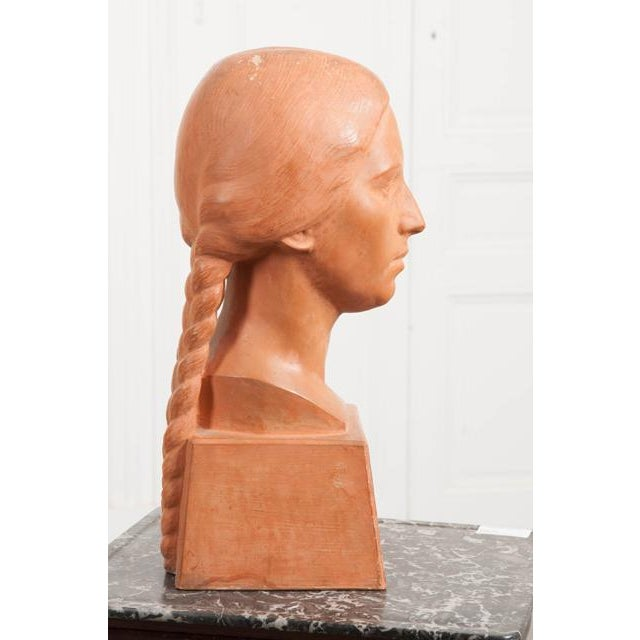 Early 20th Century French Early 20th Century Terra Cotta Bust by Raymond Couvègnes For Sale - Image 5 of 9