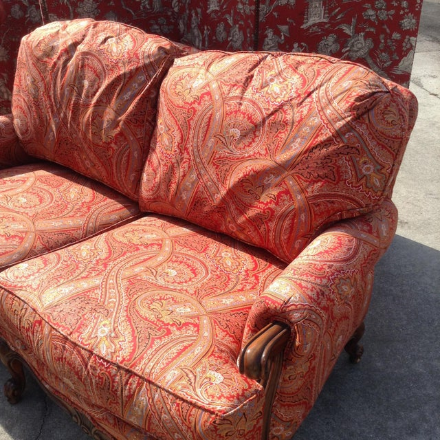 French Modern French Style Loveseat For Sale - Image 3 of 8