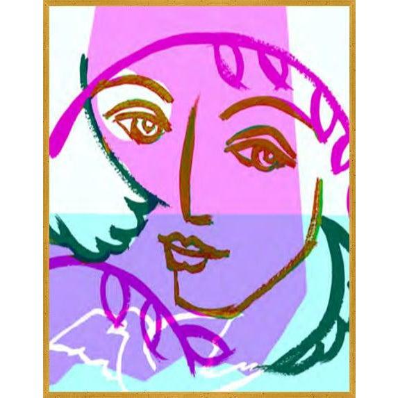 Dove Portrait 2 Art Print in Walnut Frame For Sale