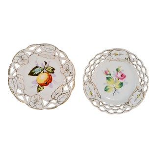 Pair of 19th C French Plates For Sale