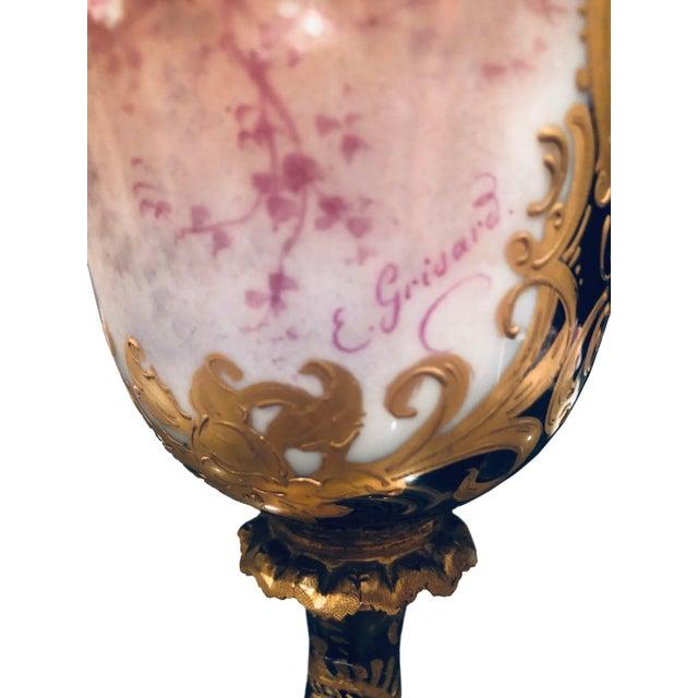 French Sevres Porcelain Vase For Sale - Image 4 of 11