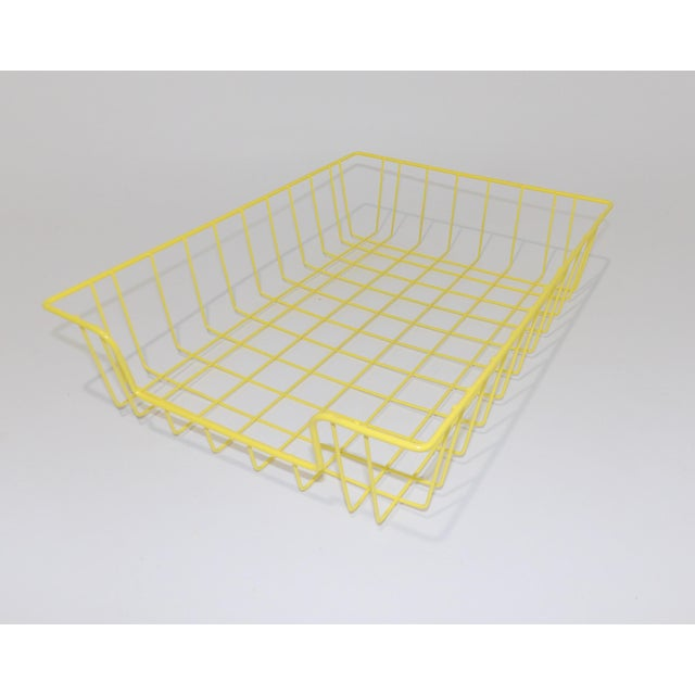 Mid-Century Modern Yellow Wire Office Desk File Sorter For Sale - Image 4 of 6