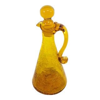 1970s Vintage Blenko Handblown Decanter Jar