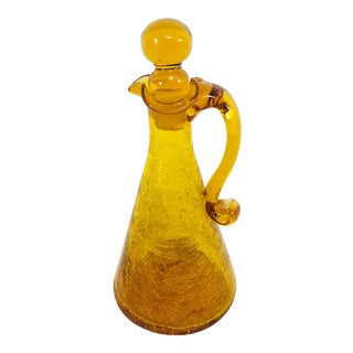 1973 Blenko Handblown Decanter Jar