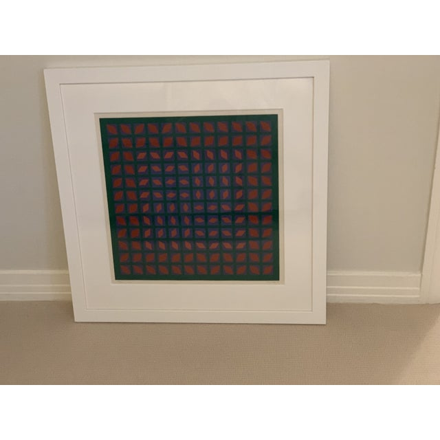1970s Vintage Abstract Mid-Century Art For Sale - Image 5 of 5