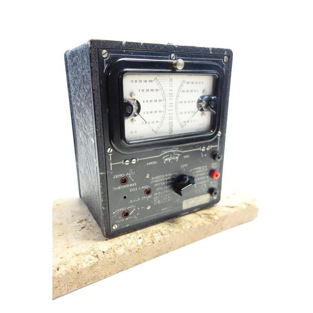 Art Deco Universal Meter by Triplett Vintage Electric Meter Mounted As Sculpture. Circa 1934 For Sale - Image 3 of 4