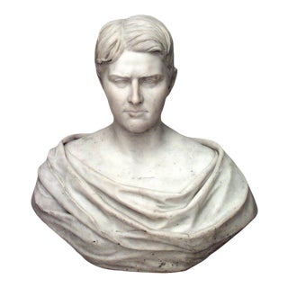 Italian Marble Roman Man Bust For Sale