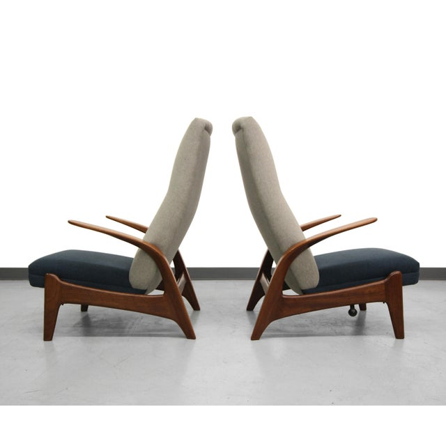 Vintage Gimson & Slater Reclining Lounge Chairs - A Pair - Image 4 of 7