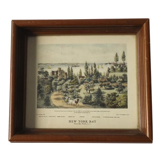 Vintage Currier & Ives New York Bay Print