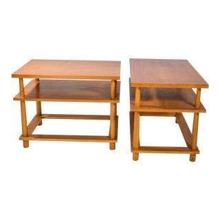 1950s Mid Century Modern Robsjohn-Gibbings Widdicomb Side Tables - a Pair For Sale