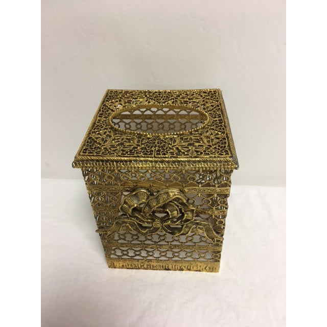 Hollywood Regency Goldtone Kleenex Box - Image 6 of 7