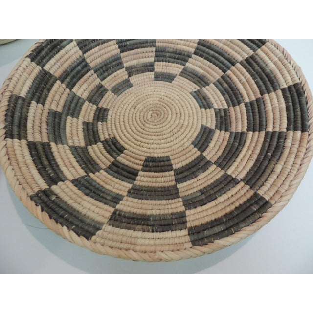Vintage Tribal Colorful Round Baskets/Bowls - Set of 3 - Image 3 of 7