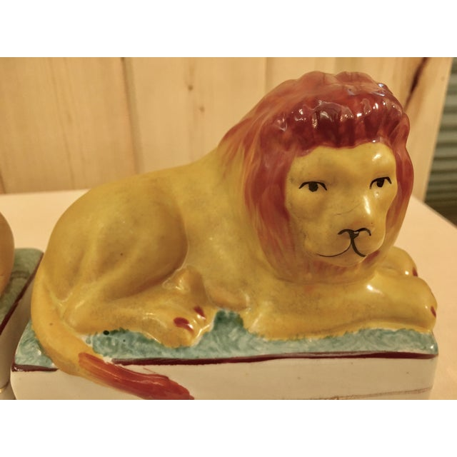 Ceramic Lion Bookends - A Pair For Sale - Image 10 of 11