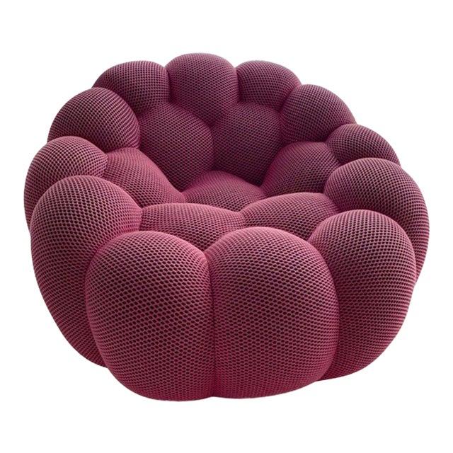 Modern Roche Bobois Pink Bubble Swivel Chair For Sale