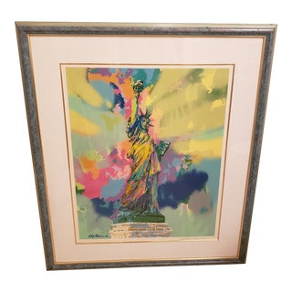 """Statue of Liberty"" Framed Lithograph Signed Leroy Neiman For Sale"