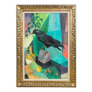 Contemporary Original Oil Painting on Masonite of Blackbird by William Dampier