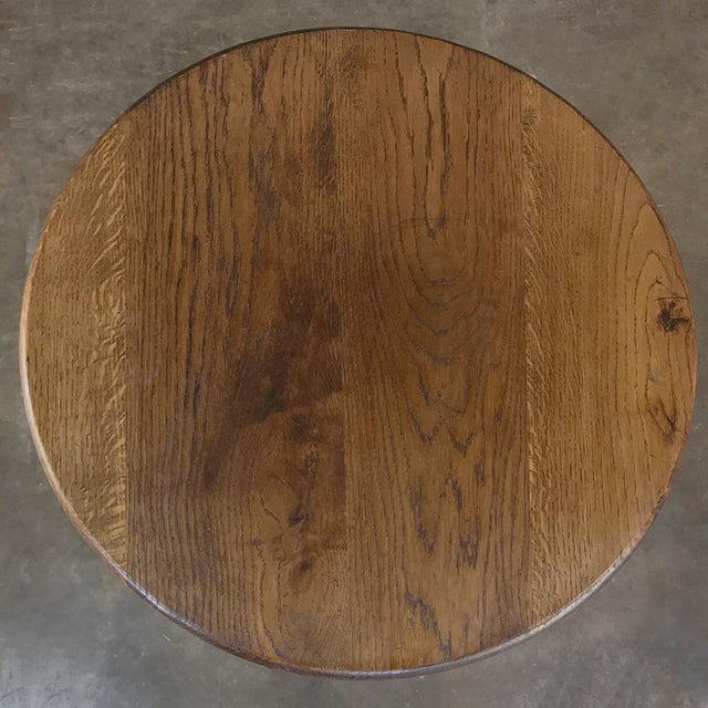 Brown 19th Century Round Tripod Folding End Table For Sale - Image 8 of 13