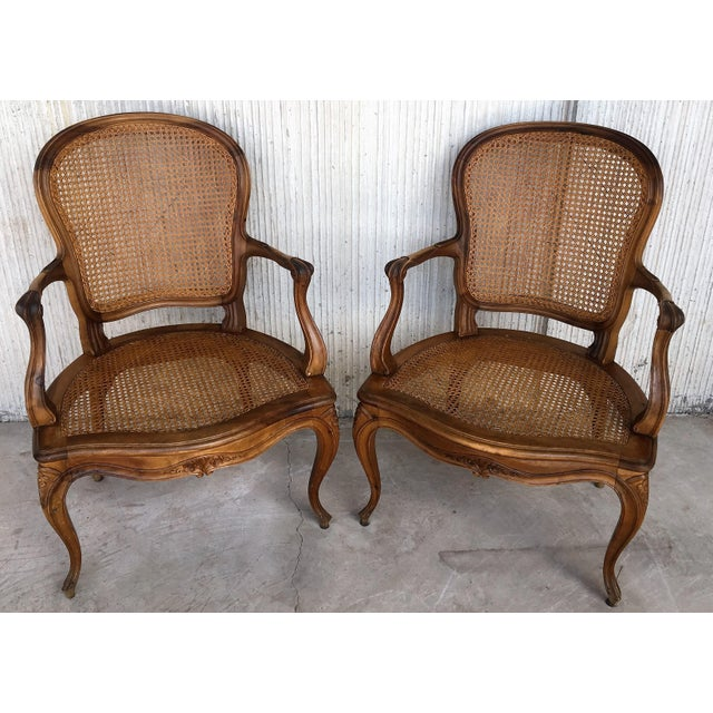 18th Louis XV Cane Back and Seat Fauteuil Armchair. For Sale - Image 11 of 13