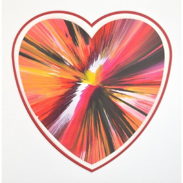 Damien Hirst Spin Art Heart, Ukraine, 2009 For Sale In Miami - Image 6 of 6