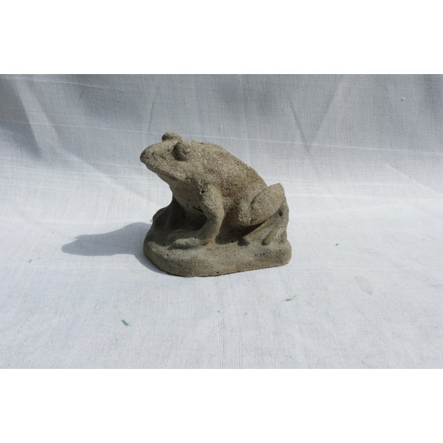 Figurative Cast Stone Frog Garden Ornament For Sale - Image 3 of 6