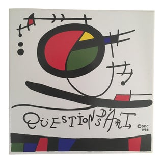 "Miro Inspired ""Questions Ds 'Art"" Ceramic Tile For Sale"