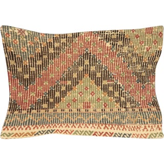 Nalbandian - 1960s Turkish Cicim Lumbar Pillow - 16' X 23' For Sale