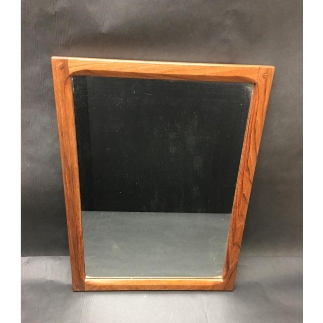 Wood 1960's Vintage Mid Century Modern Askel Kjersgaard for Odder, Denmark Teak Mirror For Sale - Image 7 of 7