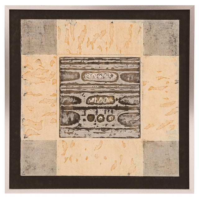 1960s Cheung Yee 'Magic Square' Woodblock Print For Sale - Image 5 of 5