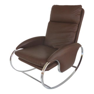 Guido Faleschini Chrome Rocking Chair For Sale