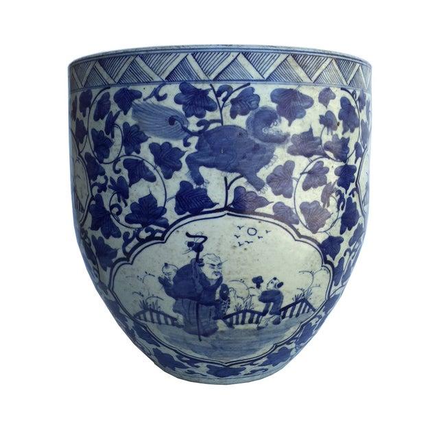 Chinese Porcelain Blue & White Planter - Image 1 of 4