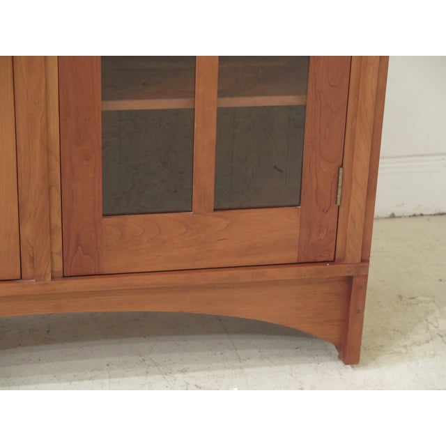 Stickley Stickley Mission Cherry Leaded Glass 2 Door Bookcase For Sale - Image 4 of 13