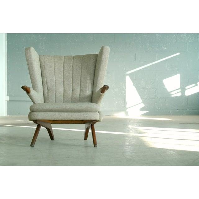 Svend Skipper Sven Skipper 1960s Papa Bear Chair Model 91 in the Style of Hans Wegner For Sale - Image 4 of 11