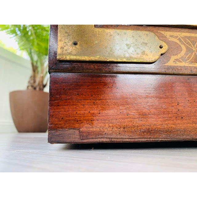 Chinoiserie Drexel Rosewood Chest of 2 Drawers For Sale - Image 11 of 13