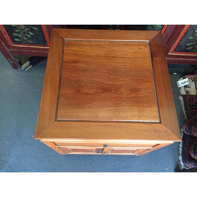 "Mid Century Modern Asian Modern side table, constructed of solid rosewood.Excellent condition. No flaws. This measures 20""..."