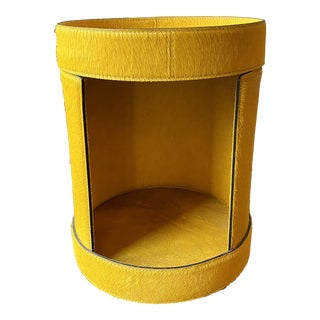 Contemporary One of a Kind Tray Table in Yellow Pony For Sale