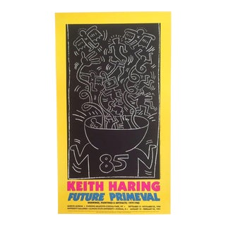 "Keith Haring ""Future Primeval"" Original Offset Lithograph For Sale"