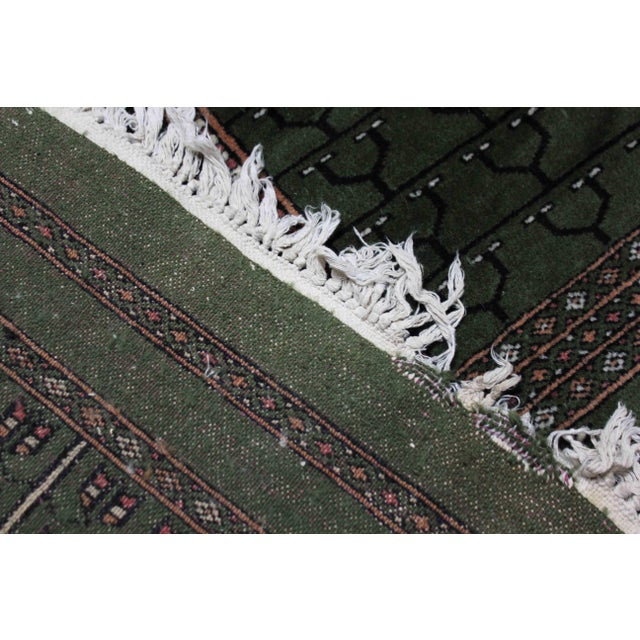 1990s Hand-Knotted Pakistan Bokhara Rug For Sale - Image 5 of 9