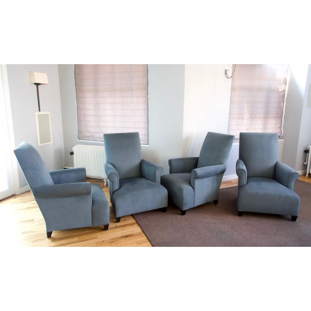 Wood Donghia Club Chairs Set 2 For Sale - Image 7 of 13