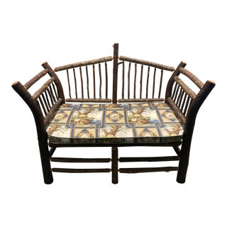 Rustic Settee by Flat Rock Furniture Co For Sale
