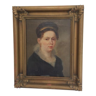 Portrait of a Lady Wearing a Tiara For Sale