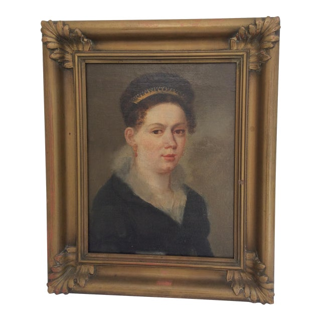 Portrait of a Lady Wearing a Tiara - Image 1 of 9