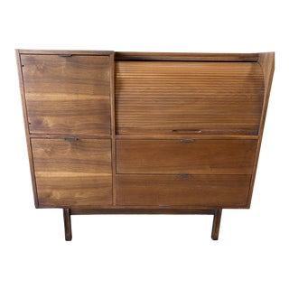 Mid Century Hooker for Mainline Secretary Roll Top Desk For Sale
