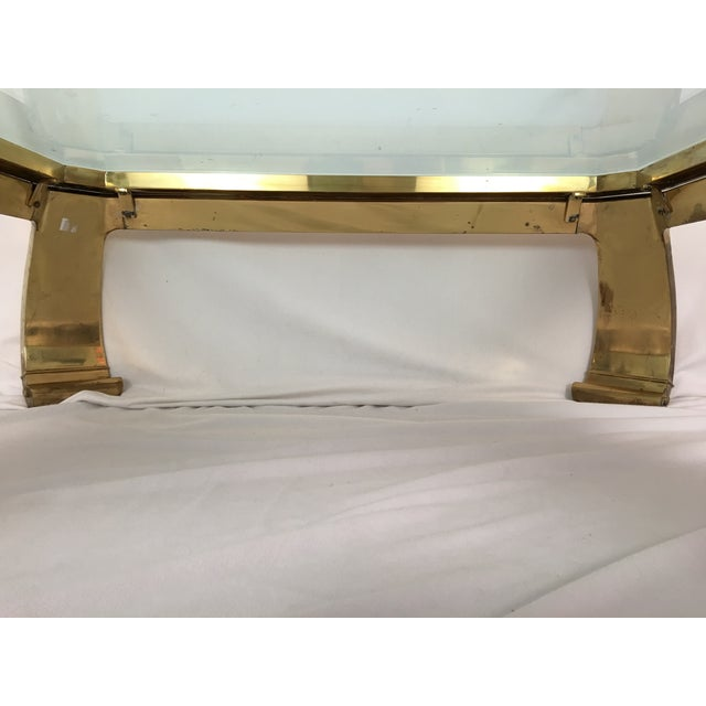 Karl Springer Brass Coffee Table - Image 6 of 7
