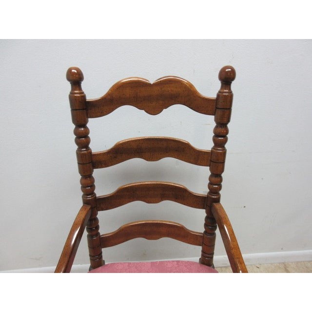 Country Link Taylor Country Pine Ladder Back Dining Chairs - A Pair For Sale - Image 3 of 10
