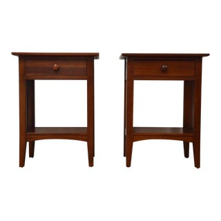 Ethan Allen American Impressions Cherry Nightstands - a Pair