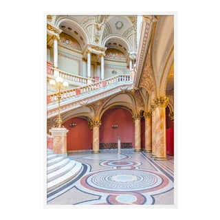 The Romanian Atheneum Lobby by Richard Silver in White Framed Paper, Large Art Print For Sale