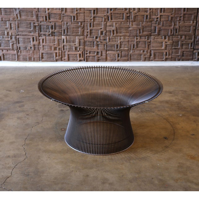 1960s Vintage Warren Platner for Knoll Bronze Coffee Table For Sale - Image 10 of 12