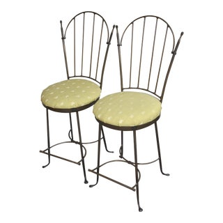 Charleston Forge Swivel Counter Stools - A Pair For Sale