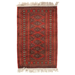 Pasargad Pak Bokhara Hand-Knotted Rug - 2′2″ × 4′10″ For Sale