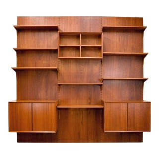 Rare Cado System Danish Teak Panel Wall Unit, Poul Cadovious For Sale